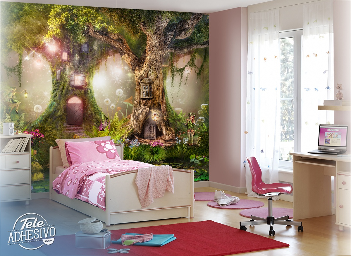 Wall Murals: Tree Houses of the Fairies