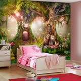 Wall Murals: Tree Houses of the Fairies 2