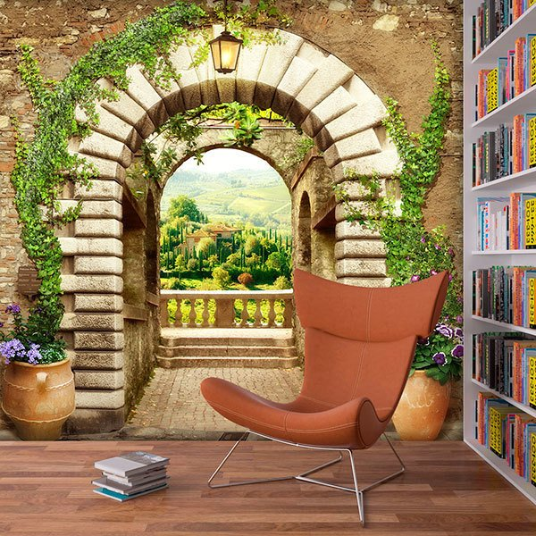 Wall Murals: Great door to the viewpoint 0