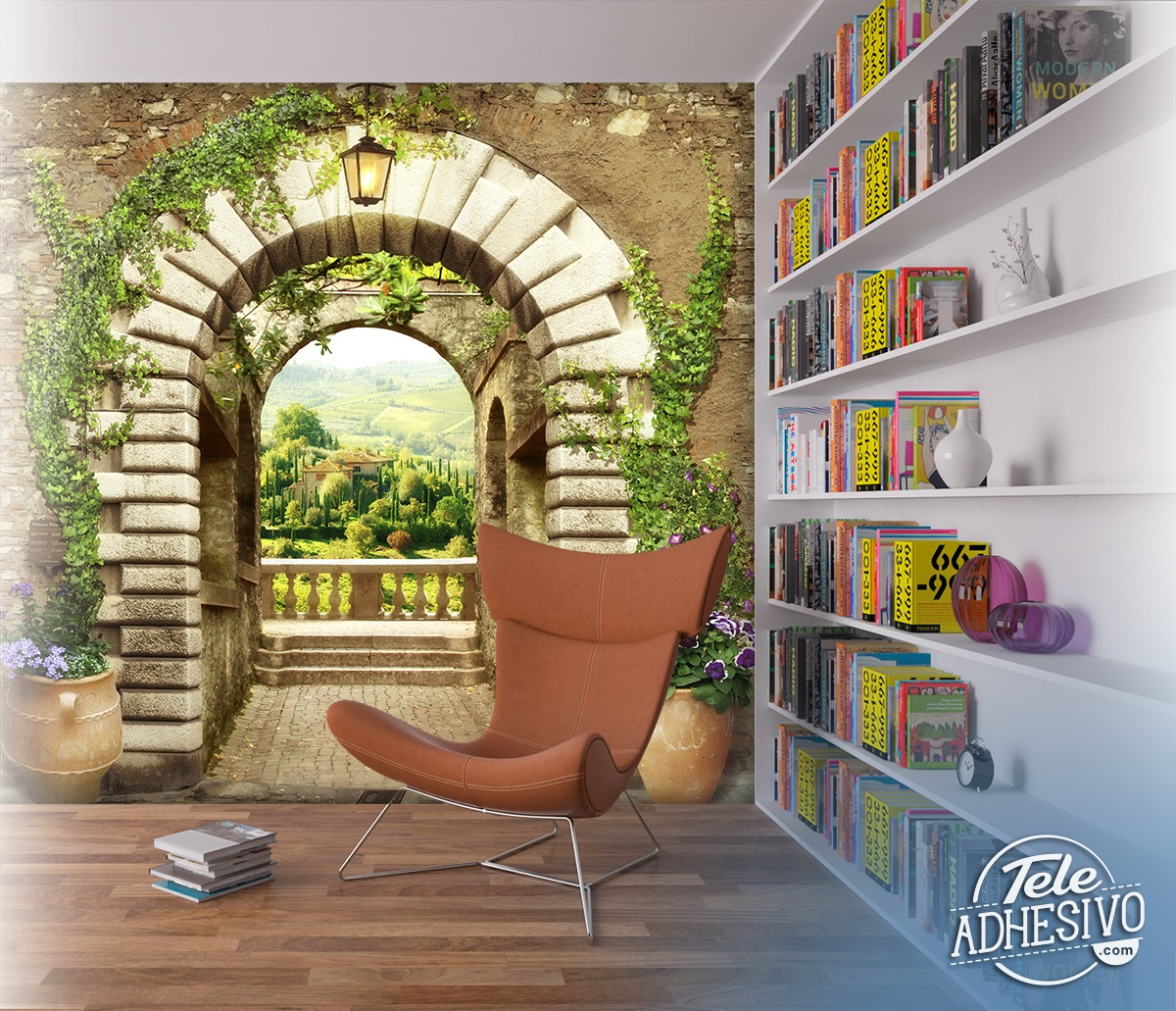 Wall Murals: Great door to the viewpoint