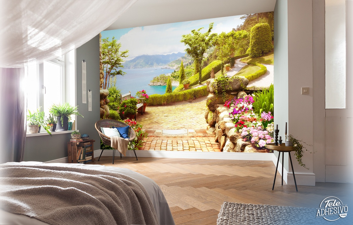 Wall Murals: Garden by the lake