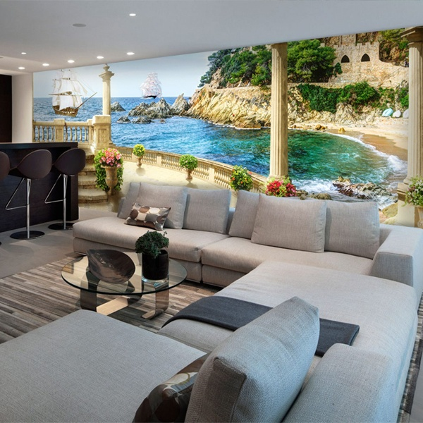 Wall Murals: Castle Lookout beach