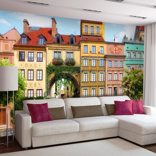Wall Murals: Arch village square