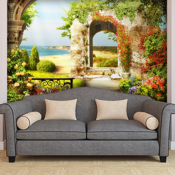 Wall Murals: The garden of the beach 0