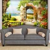 Wall Murals: The garden of the beach 2