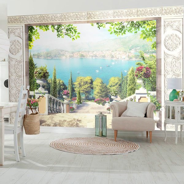 Wall Murals: Celtic portico to the sea