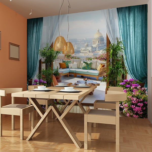 Wall Murals: Terrace in St. Petersburg