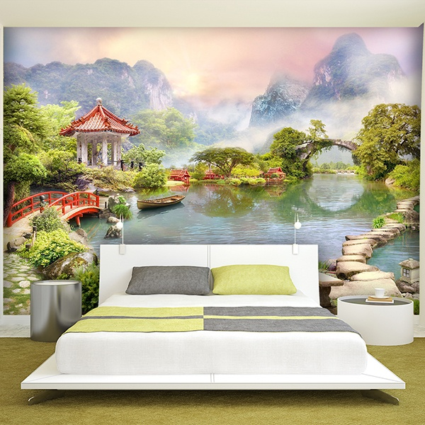 Wall Murals: Oriental lake