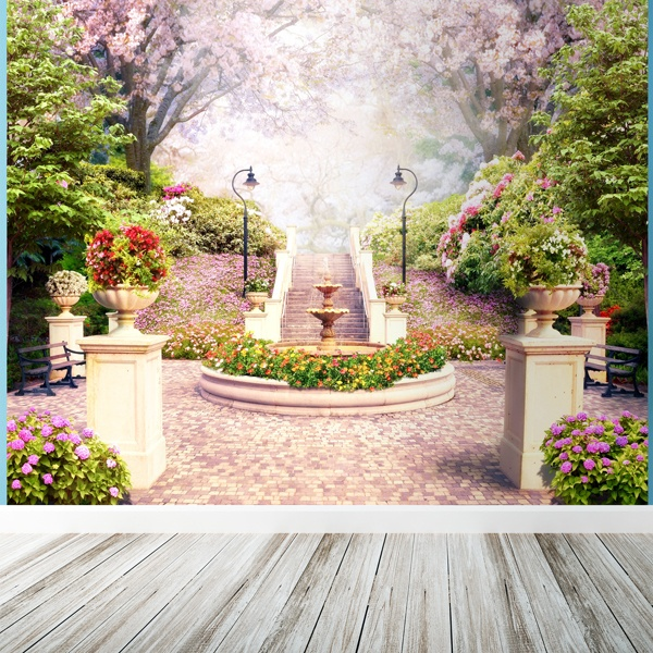 Wall Murals: Flower fountain