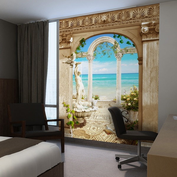 Wall Murals: Arches overlooking the sea
