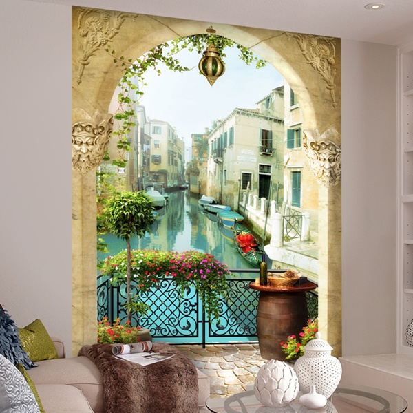 Wall Murals: Balcony from Venice