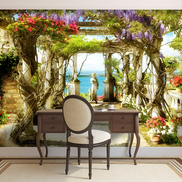 Wall Murals: Twisted columns
