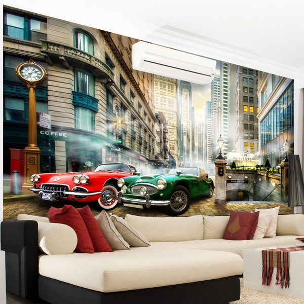 Wall Murals: Antique Convertibles