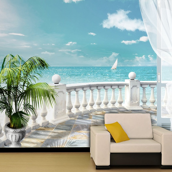 Wall Murals: Terrace sea