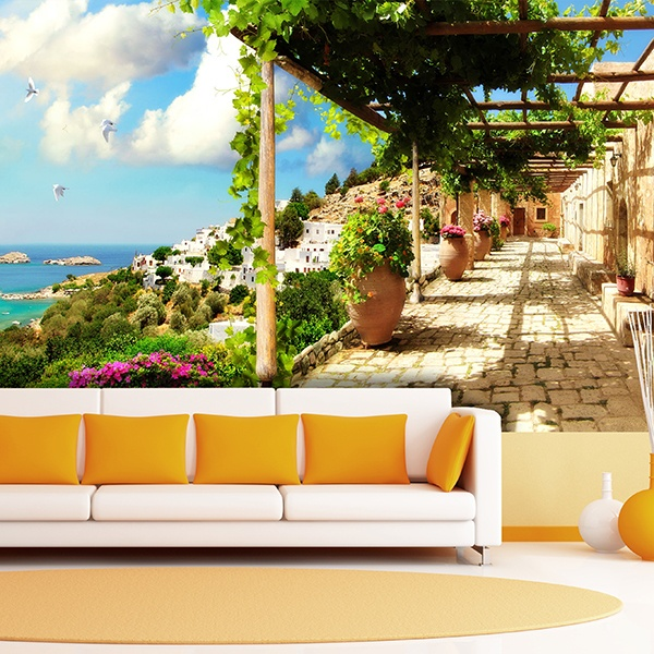 Wall Murals: Terrace to the Mediterranean Sea