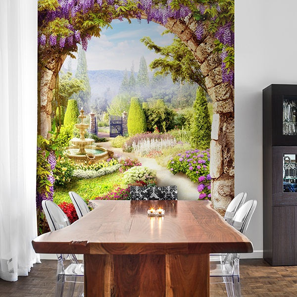 Wall Murals: Flower garden 0
