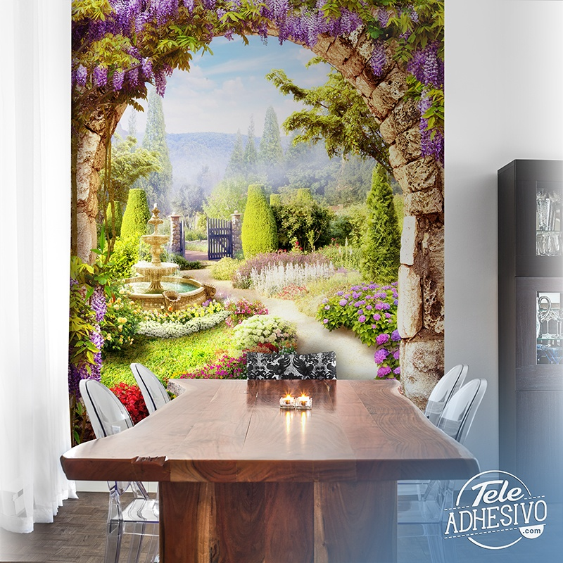 Wall Murals: Flower garden