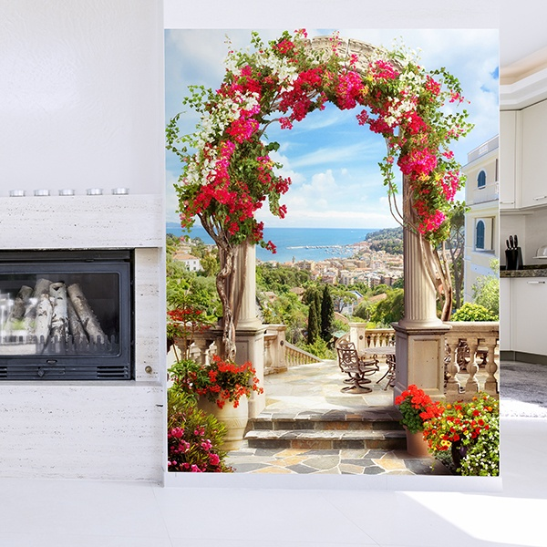 Wall Murals: Floral arch to the coast 0