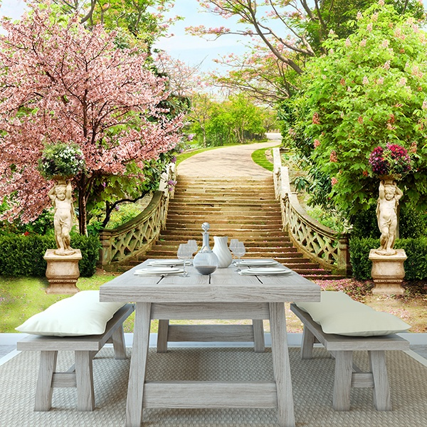 Wall Murals: Stairs in the Great Garden 0