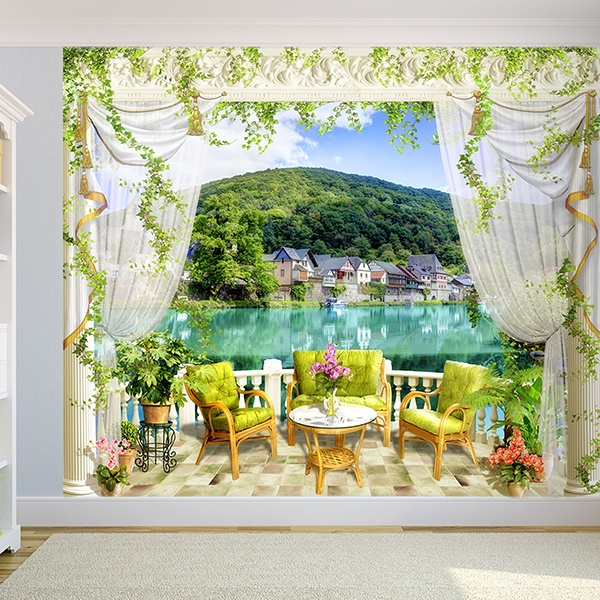 Wall Murals: The Lake terrace