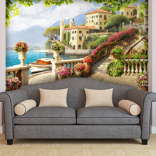 Wall Murals: Terrace on the sea