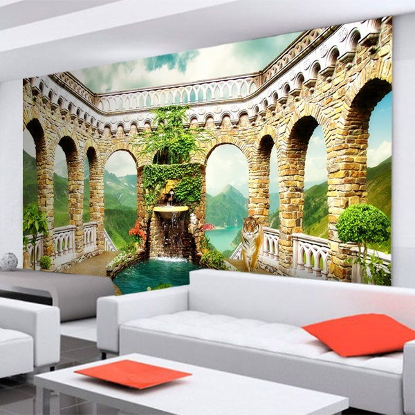 Wall Murals: Square arches