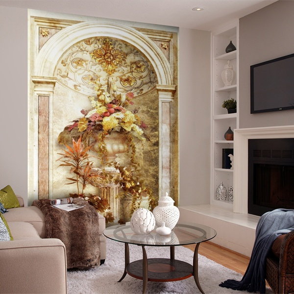 Wall Murals: Arch with flower arrangement