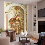 Wall Murals: Arch with flower arrangement 2