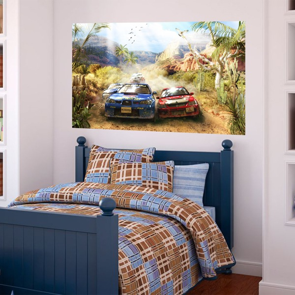 Wall Murals: Wall mural car rally