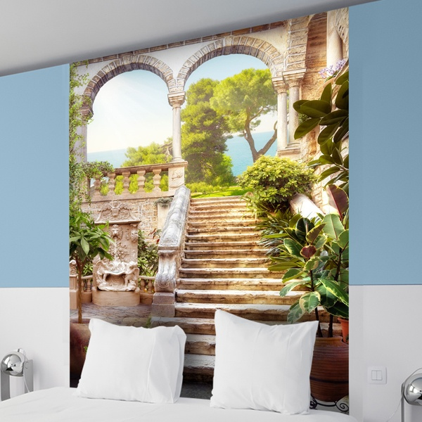 Wall Murals: Stairs old