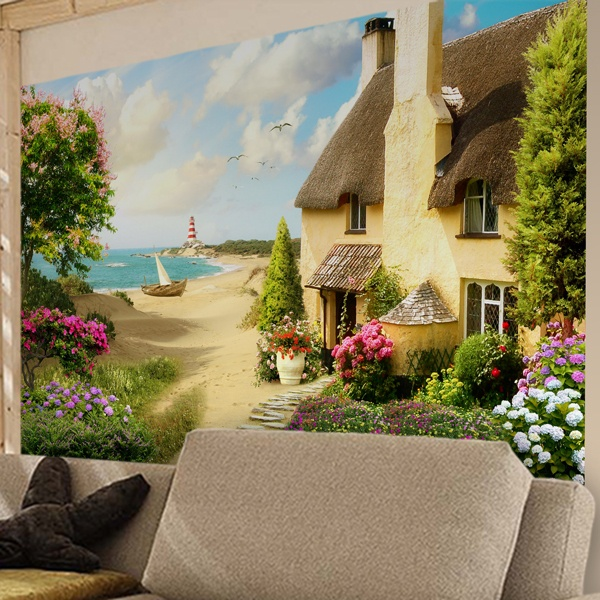 Wall Murals: House on the beach