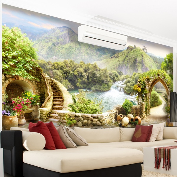 Wall Murals: Mountain paradise