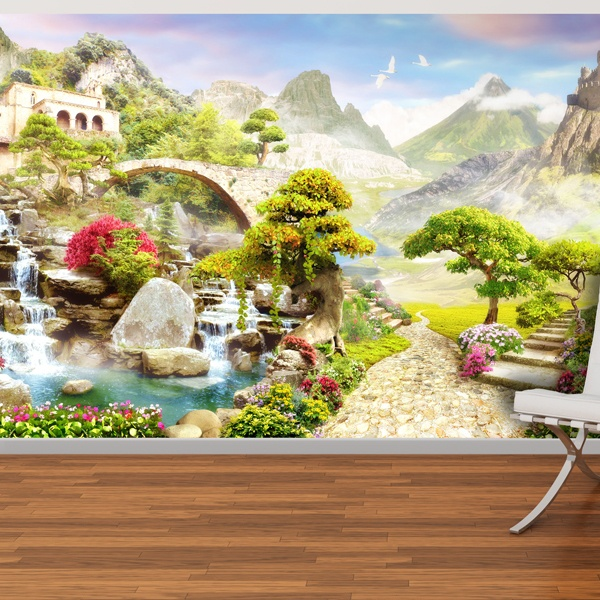 Wall Murals: Medieval landscape