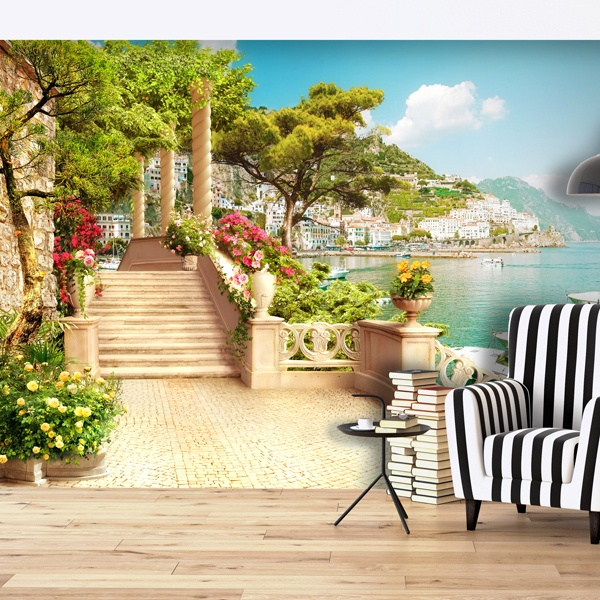 Wall Murals: Seaside village