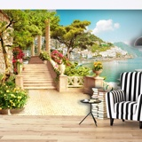 Wall Murals: Seaside village 2