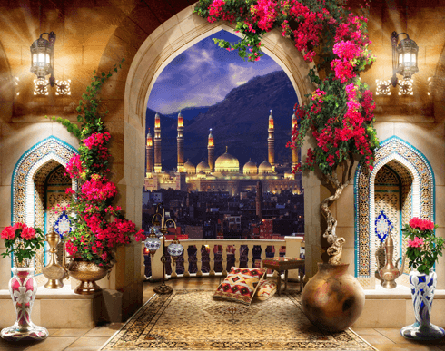Wall Murals: Balcony in Istanbul