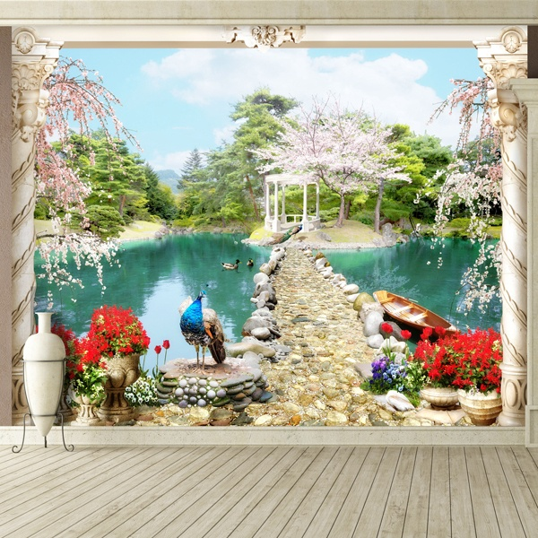 Wall Murals: Lake magic