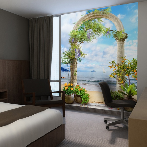 Wall Murals: Corinthian Arch on the beach