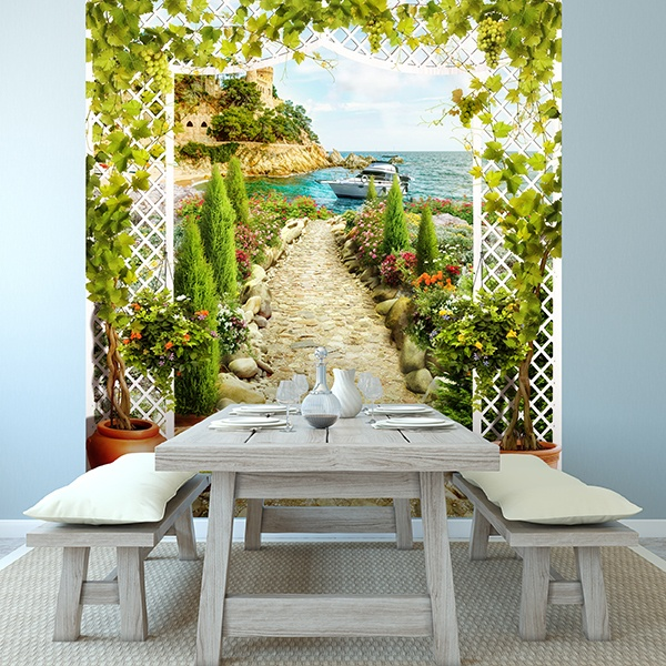 Wall Murals: The Mediterranean garden