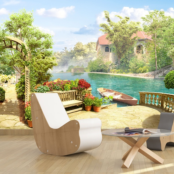 Wall Murals: Farm Lake