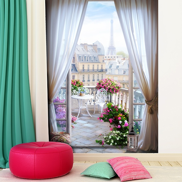 Wall Murals: Terrace in Paris 0