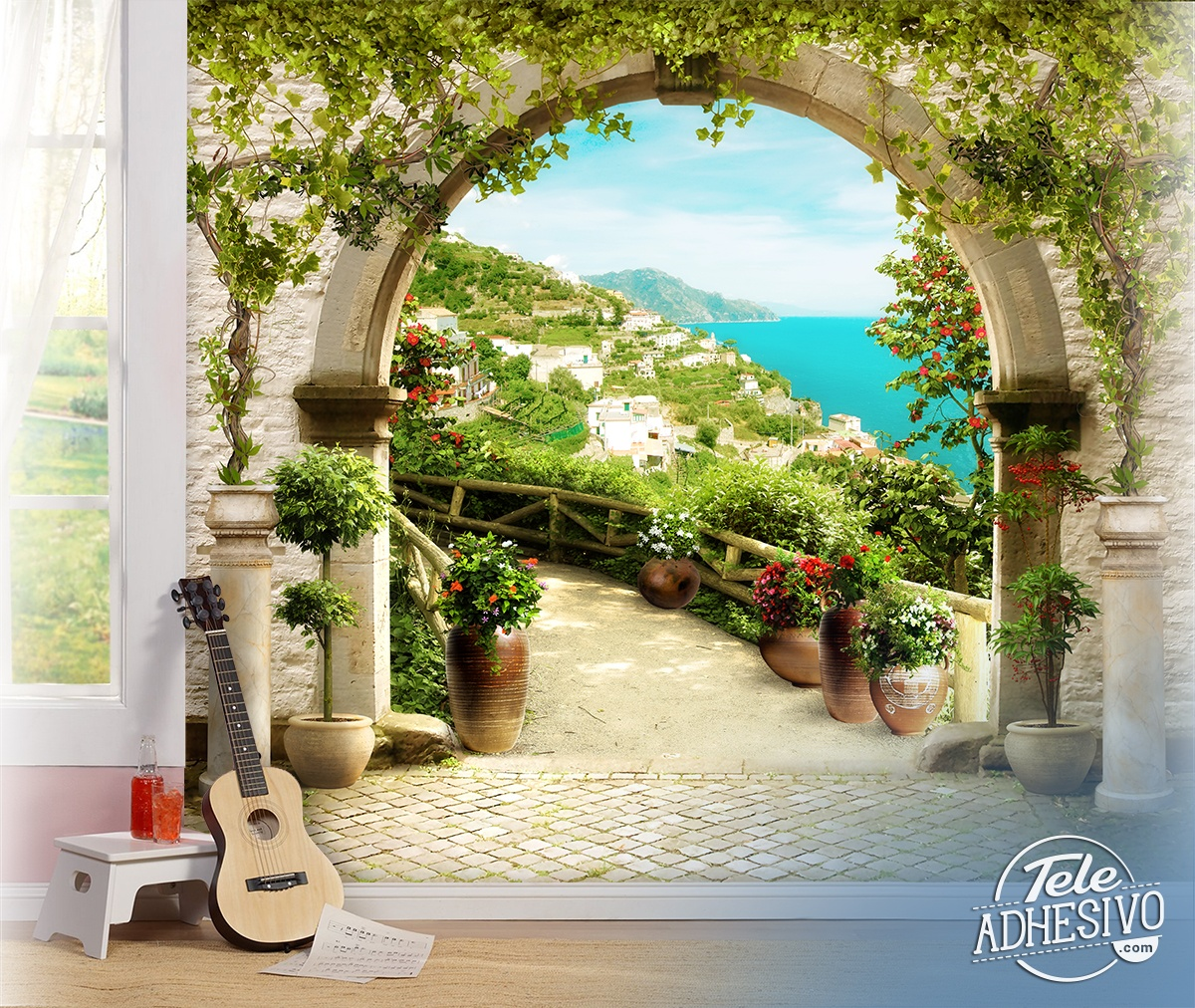 Wall Murals: Rustic arch in the Mediterranean