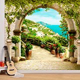 Wall Murals: Rustic arch in the Mediterranean 2