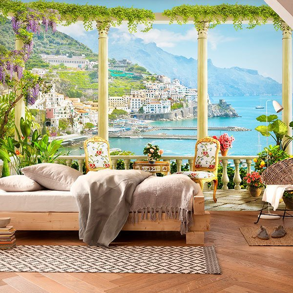 Wall Murals: Terrace to the coastal village