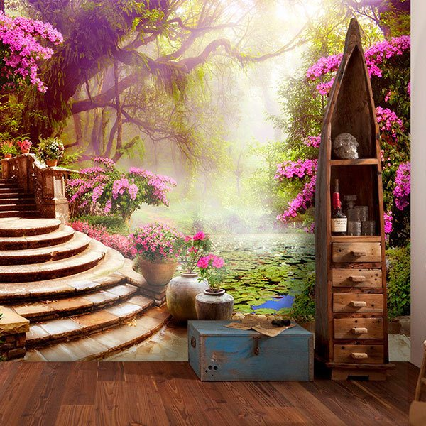 Wall Murals: The water lily garden