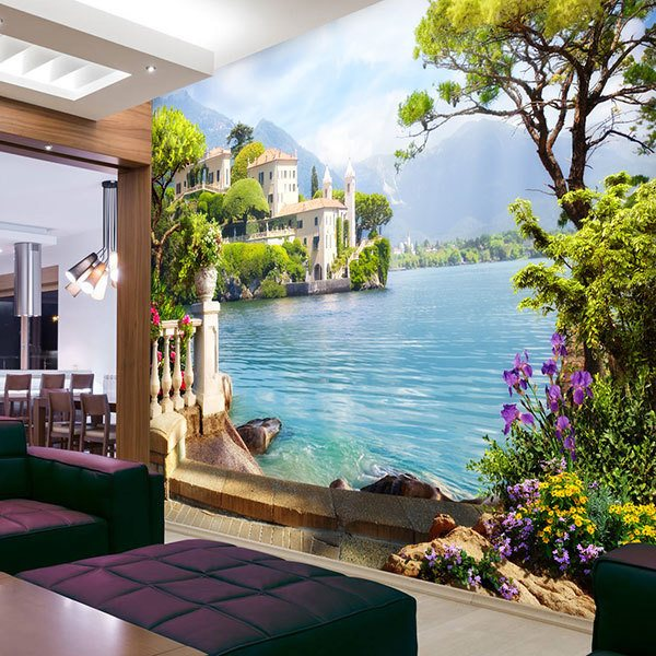 Wall Murals: Resort on the lake 0