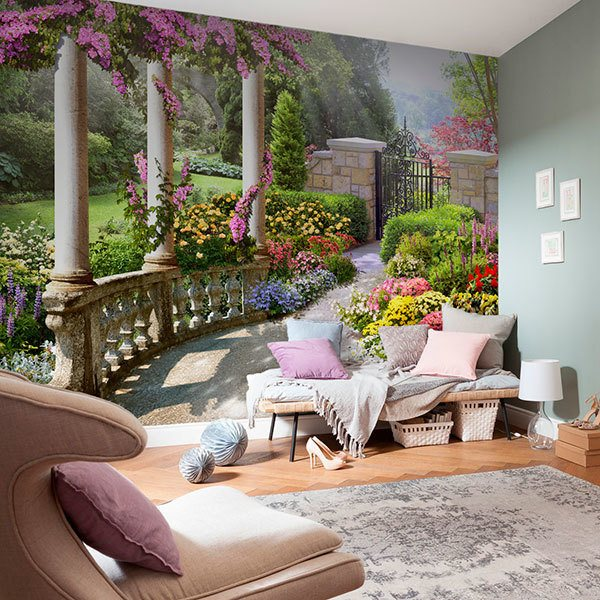 Wall Murals: The garden of the goddess Flora