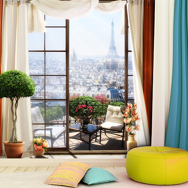 Wall Murals: Terrace in Paris 2