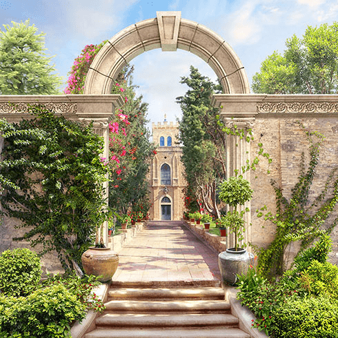 Wall Murals: Entrance to the garden of Palace