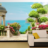 Wall Murals: Garden with sea views 2